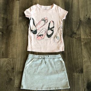Carter's Tee and Skirt (Size 8)